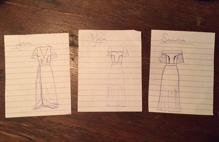c3da1380934 Är så exalterad över dessa klänningar som mina kära ska bära.